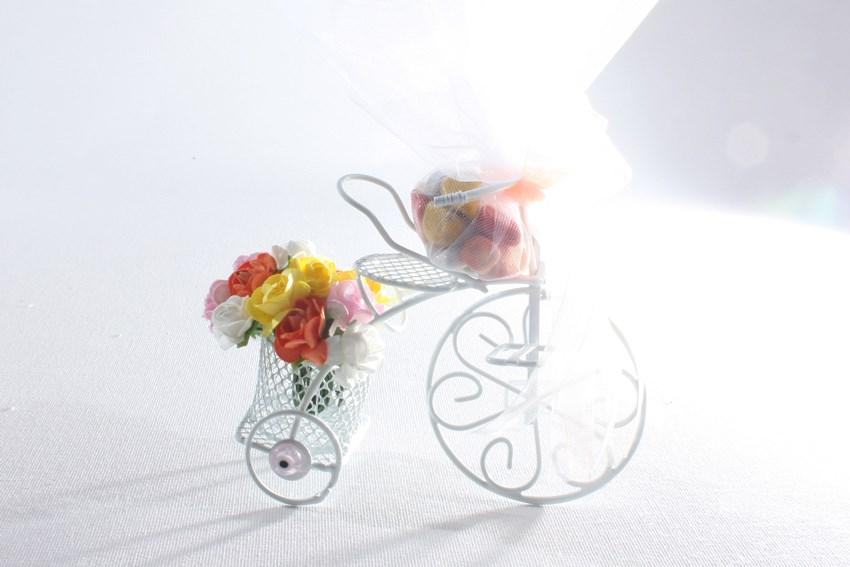 Çiçekli Bisiklet (Beyaz)