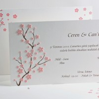 Sakura flowers invitation